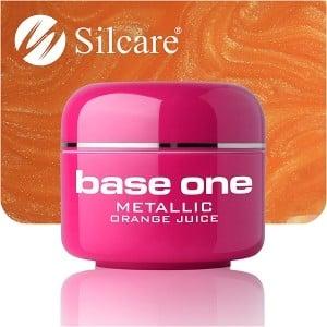 UV nagų gelis Base Metallic Orange Juice 5g
