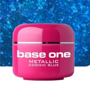 UV nagų gelis Base Metallic Cosmic Blue 5g