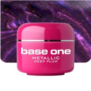 UV nagų gelis Base Metallic Deep Plum 5g