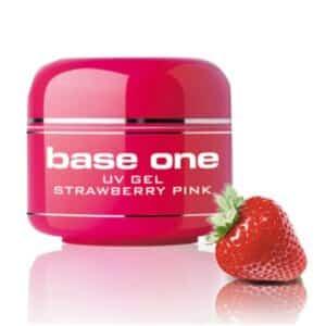 UV nagų gelis Base One Strawberry Pink