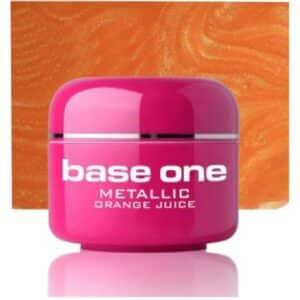 UV nagų gelis Base Metallic Peach