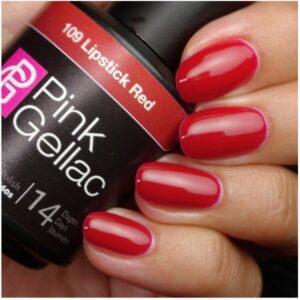 Profesionalus ilgalaikis gelinis lakas Pink Gellac Lipstick Red 15 ml