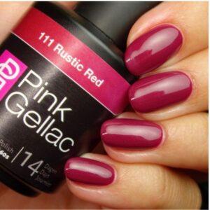 Profesionalus ilgalaikis gelinis lakas Pink GellacRustic Red 15 ml