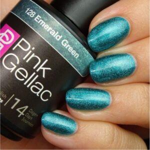 Profesionalus ilgalaikis gelinis lakas Pink Gellac Emerald Green 15 ml
