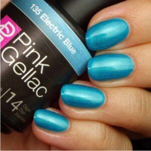 Profesionalus ilgalaikis gelinis lakas Pink Gellac Electric Blue 15 ml
