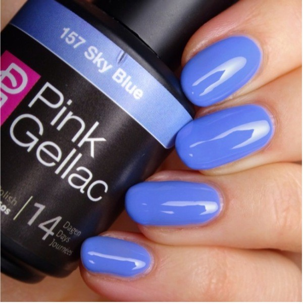 Profesionalus ilgalaikis gelinis lakas  Pink Gellac Sky Blue 15 ml