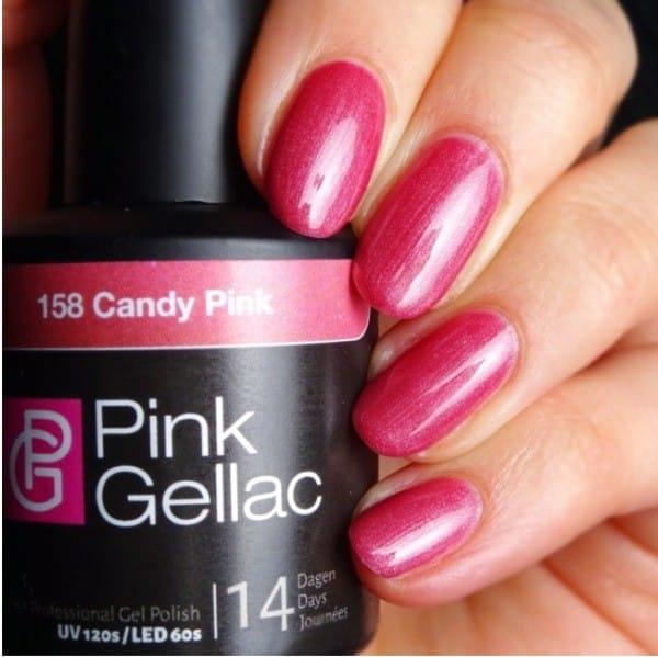 Profesionalus ilgalaikis gelinis lakas  Pink Gellac Candy Pink 15 ml