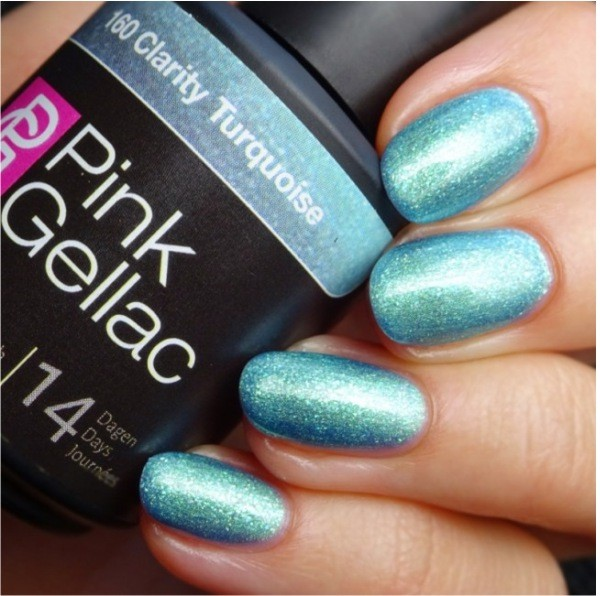 Profesionalus ilgalaikis gelinis lakas  Pink Gellac  Clarity Turquoise 15 ml