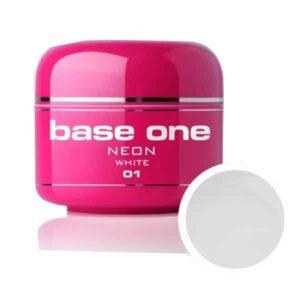 UV nagų gelis Base NEON White baltas