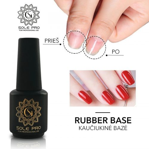 KAUCIUKINE BAZE SOLE GEL PRO rubber base 15 ml